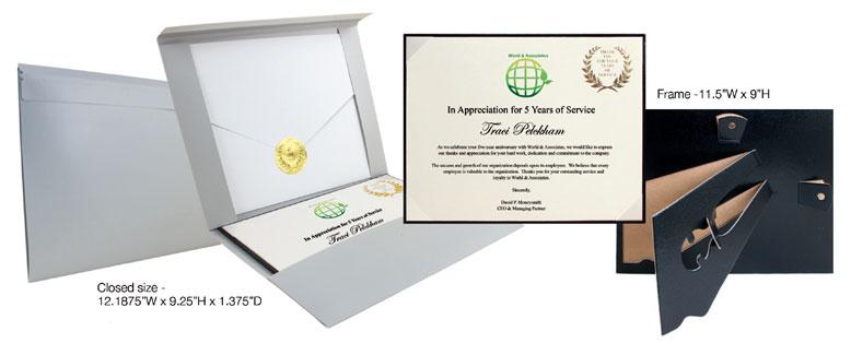 deluxe service award certifcate holder