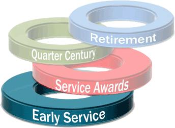 Earlier service award milestones