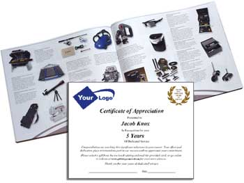 Catalog and recognition letter